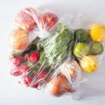 single use plastic packaging issue. fruits and vegetables in pla
